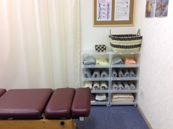埼玉県川越市の頭痛専門マッサージ整体院「いぶきカイロプラクティック」の着替え