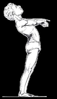 腰の反らし方が原因の腰痛